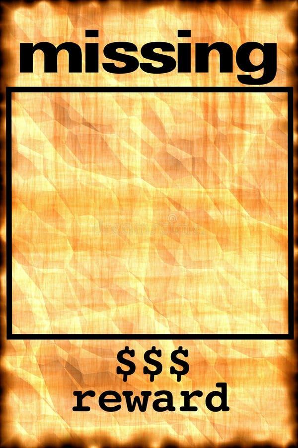 Cartel que falta ilustración del vector