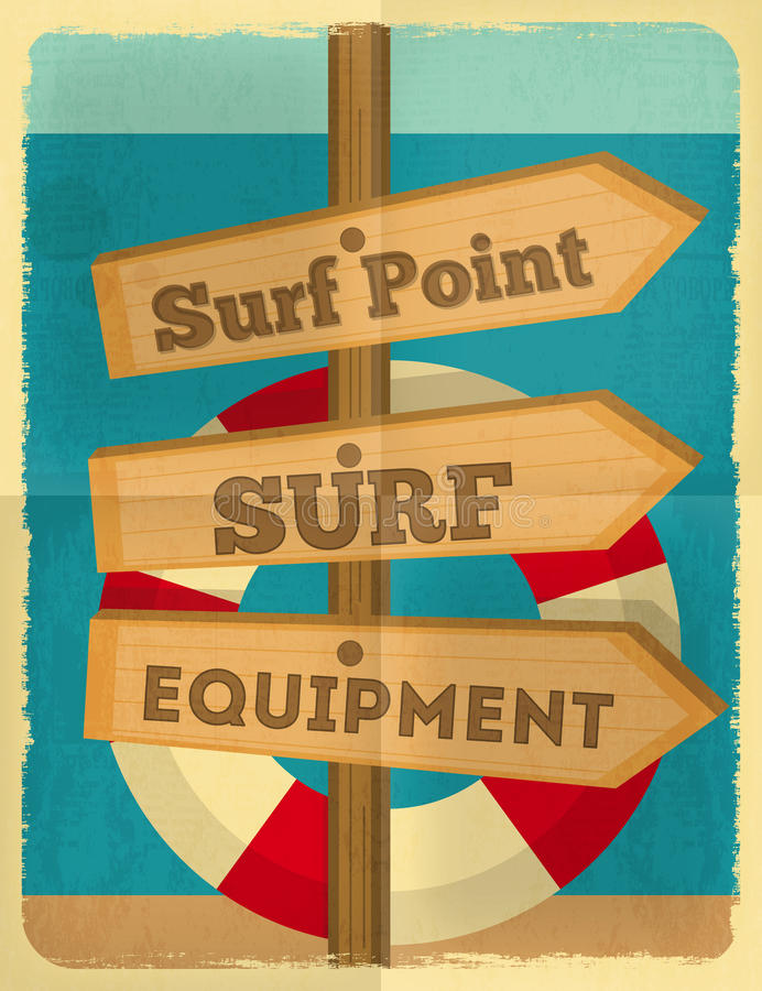 Cartel que practica surf libre illustration