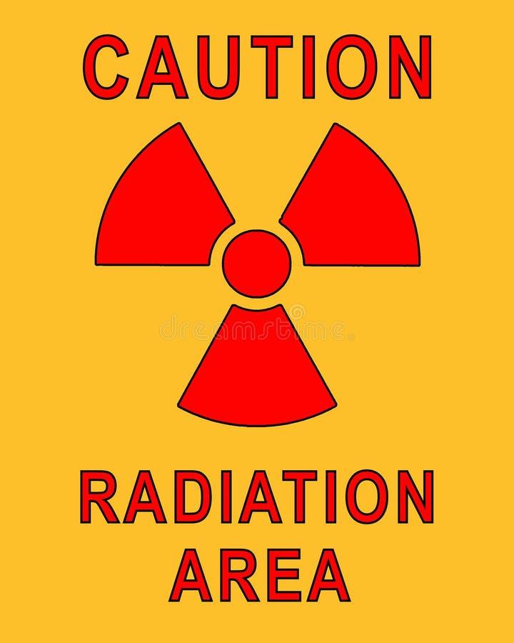 Cartel radiactivo ilustración del vector