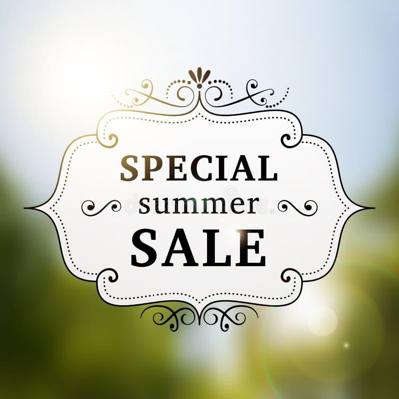 Cartel retro de la venta especial del verano stock de ilustración