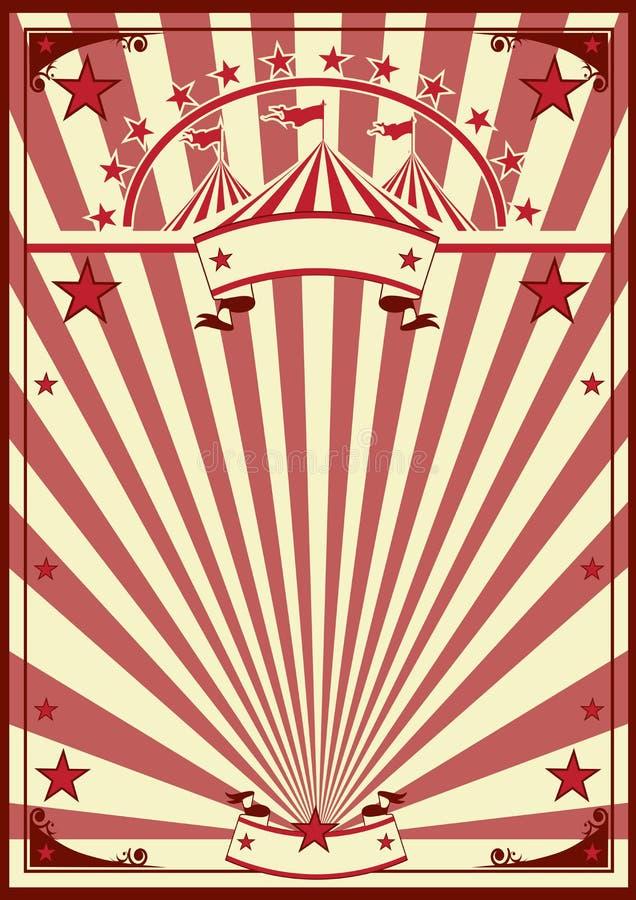 Cartel retro del circo ilustración del vector