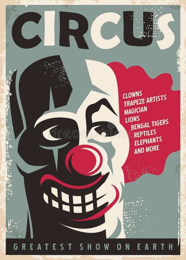 Cartel retro del circo libre illustration