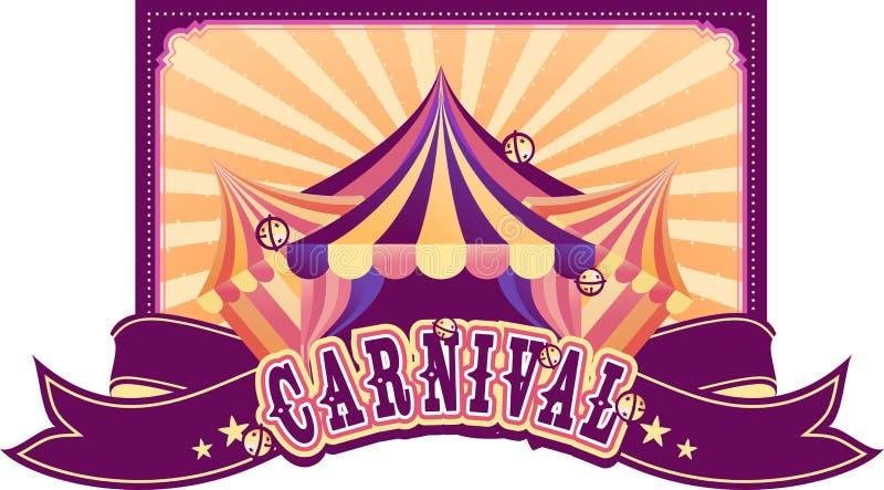 Cartel retro del circo stock de ilustración