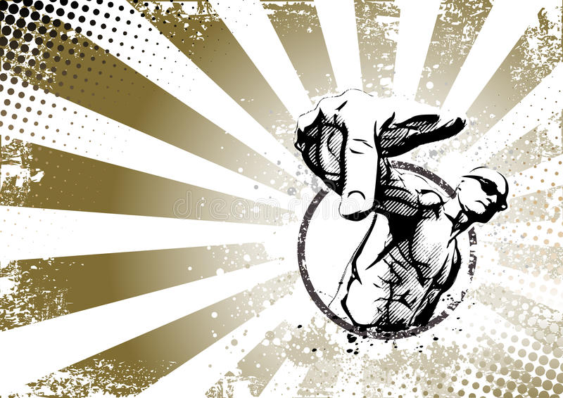 Cartel retro del golpeador libre illustration