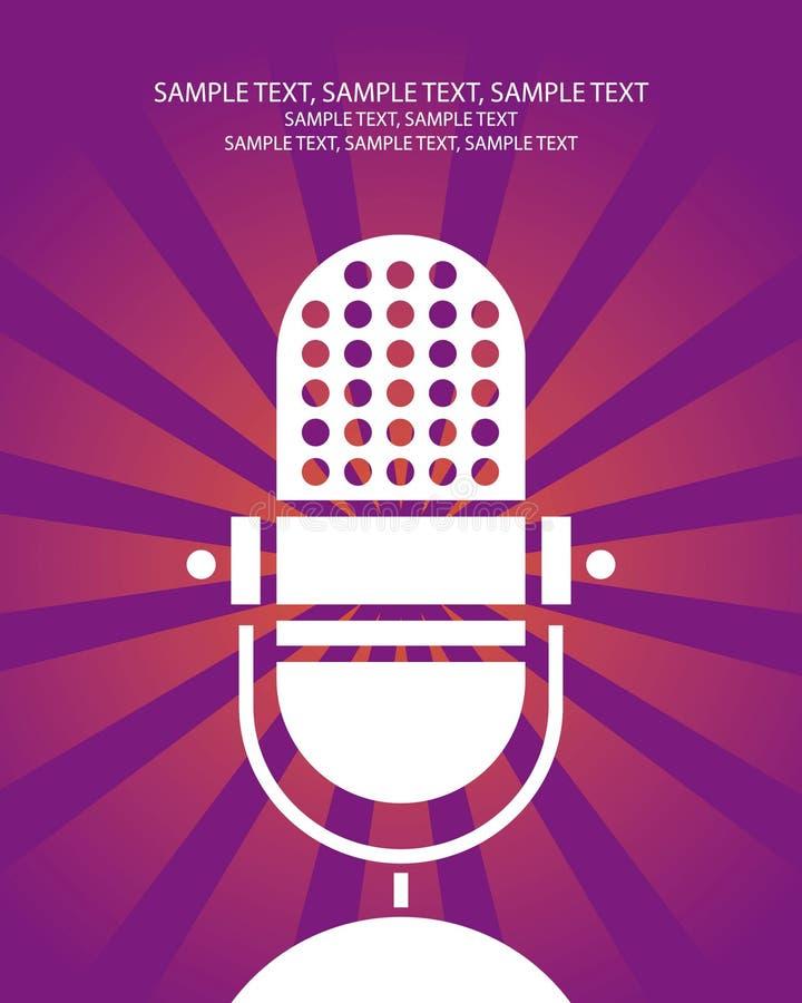 Cartel retro del micrófono stock de ilustración