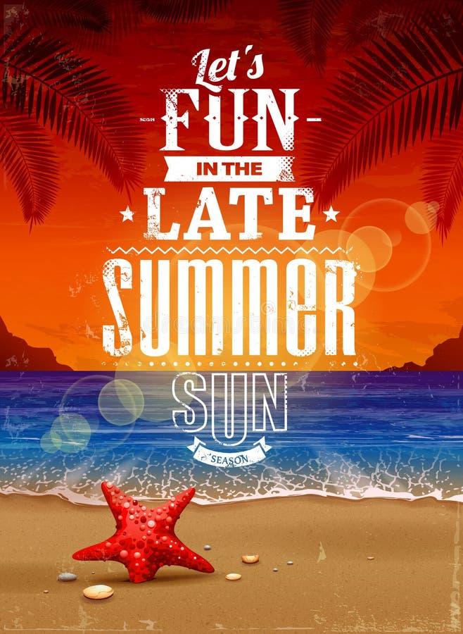 Cartel retro del verano libre illustration