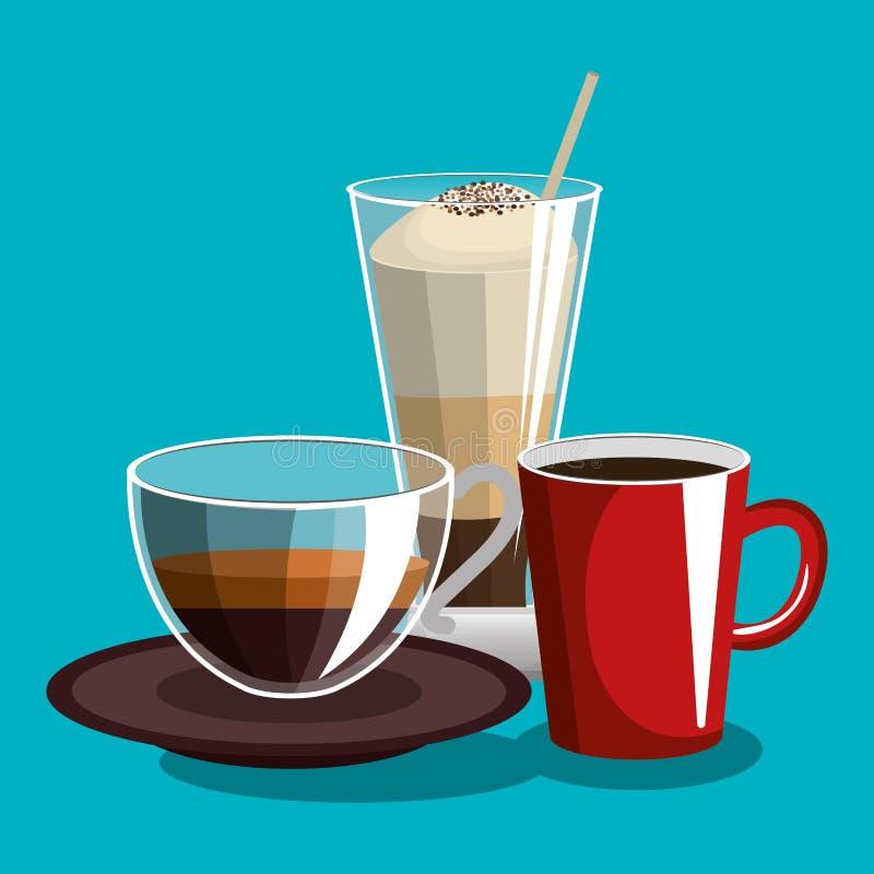 Cartel siempre fresco delicioso del café stock de ilustración