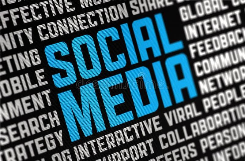 Cartel social de los media stock de ilustración