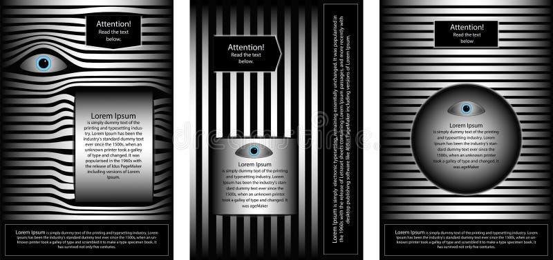 CARTEL 17 un sistema de folletos para atraer la atención stock de ilustración