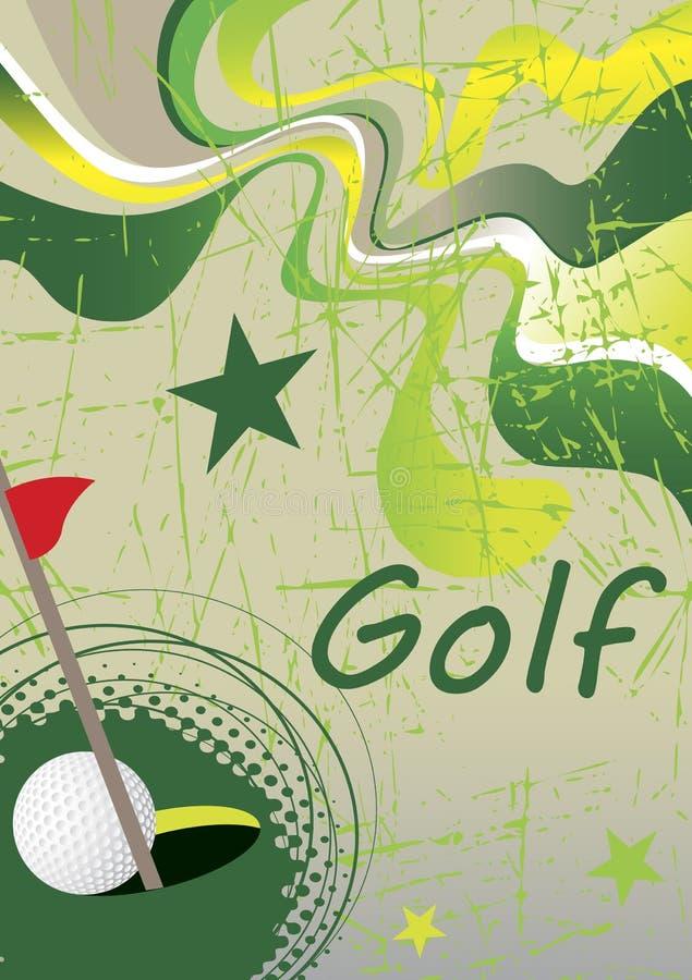 Cartel verde abstracto del golf stock de ilustración