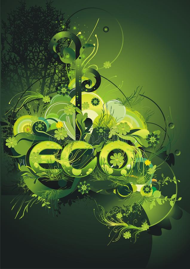 Cartel verde ambiental libre illustration