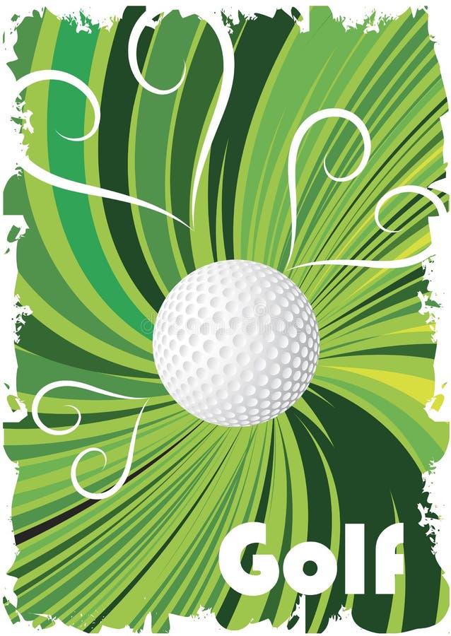 Cartel verde del golf libre illustration