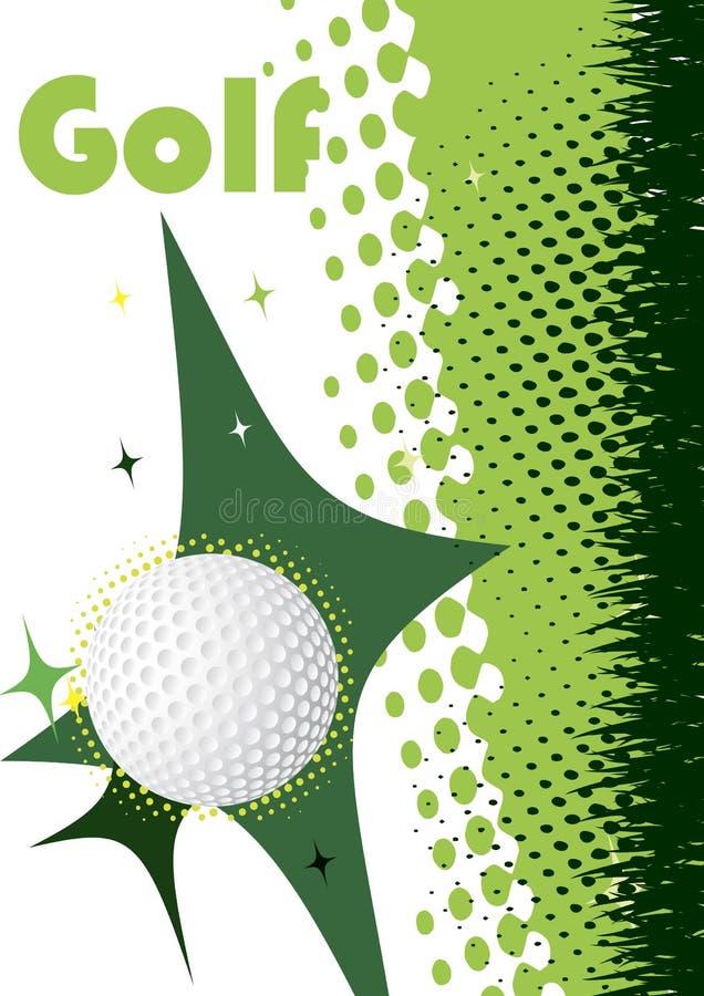 Cartel vertical abstracto del golf Fondo verde stock de ilustración