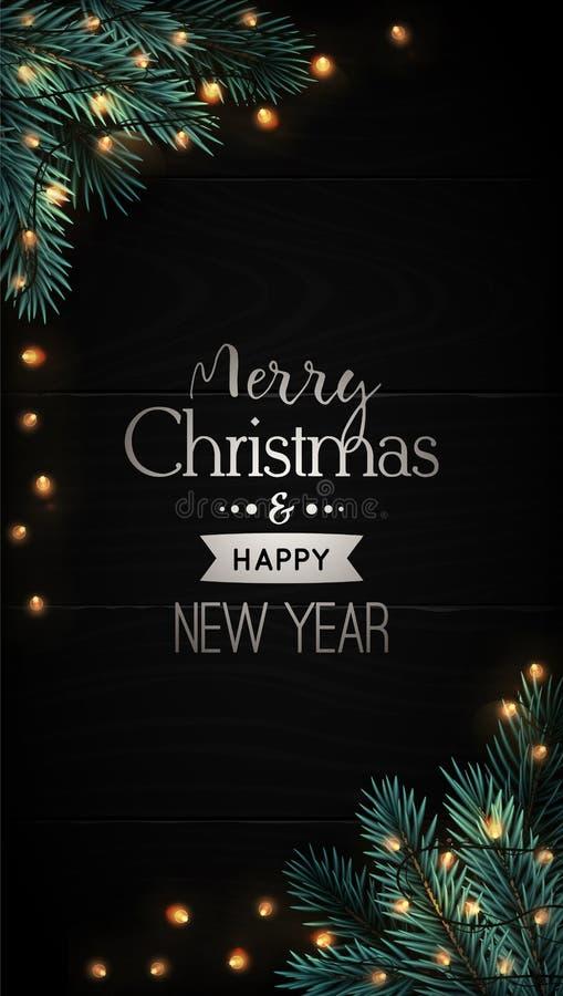 Cartel vertical de Navidad para publicidad en medios sociales ilustración del vector