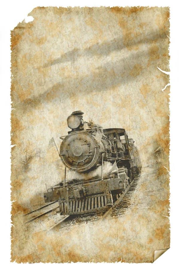 Cartel viejo del tren fotos de archivo libres de regalías