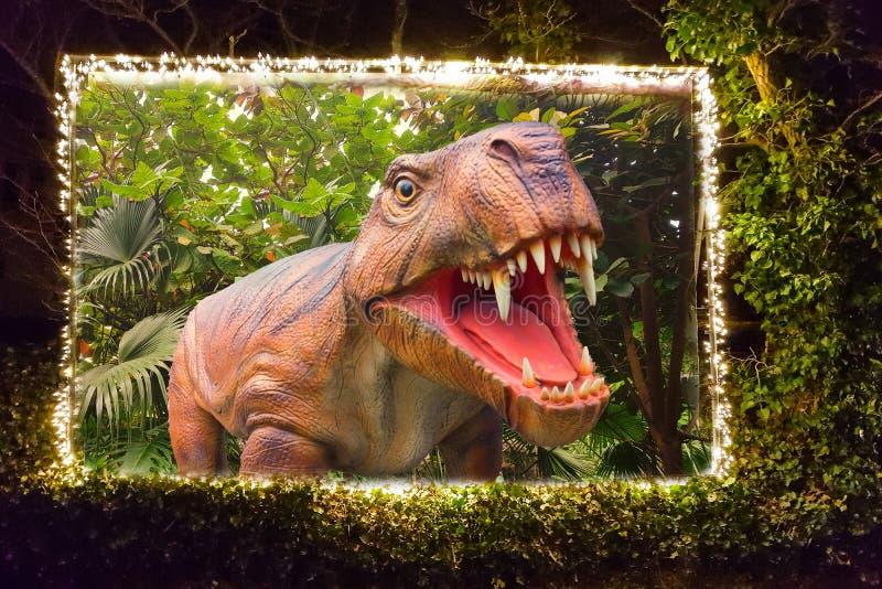 Cartelera con un dinosaurio foto de archivo libre de regalías