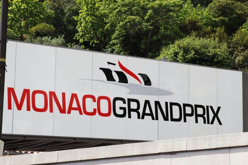 Cartelera de Mónaco Grand Prix fotos de archivo
