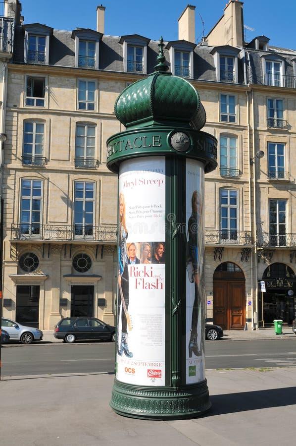 Cartelera de París fotografía de archivo