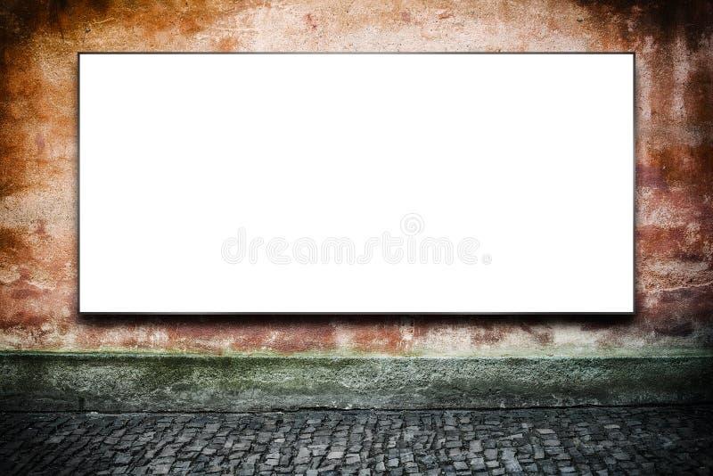 Cartelera de publicidad en blanco en la calle imágenes de archivo libres de regalías