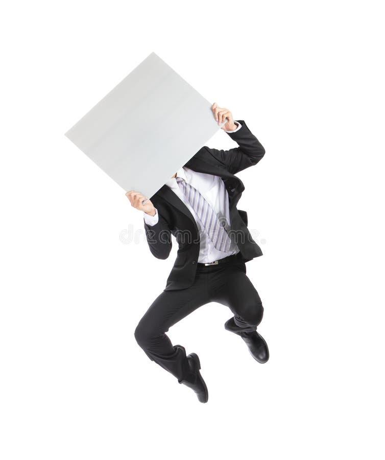 Cartelera del hombre de negocios imágenes de archivo libres de regalías