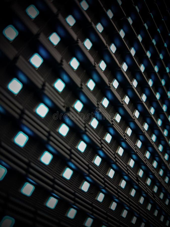 Cartelera del LED con la luz azul, cierre para arriba foto de archivo