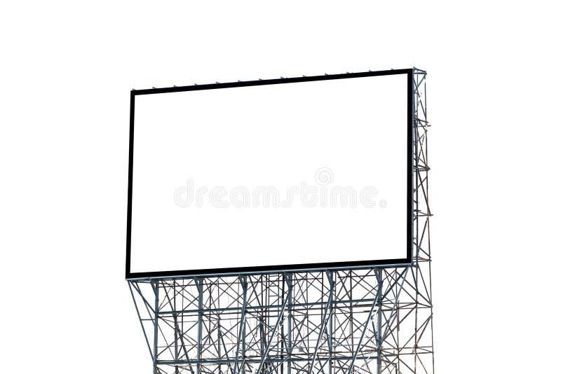 Cartelera en blanco aislada en el fondo blanco para su anuncio foto de archivo