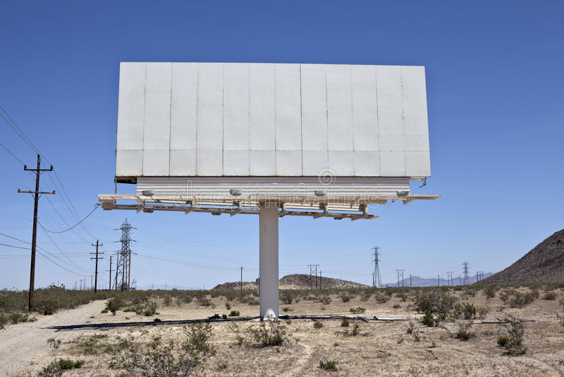 Cartelera en blanco del desierto imágenes de archivo libres de regalías