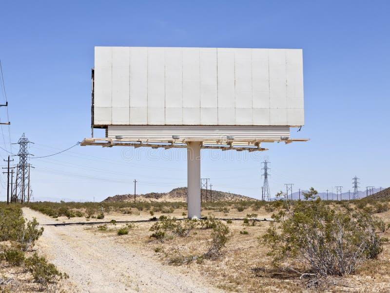 Cartelera en blanco del Mojave foto de archivo