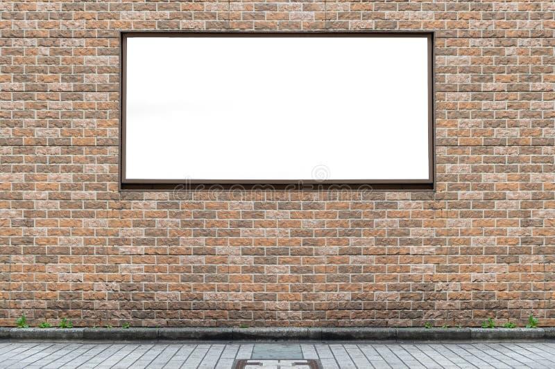 Cartelera en blanco grande en una pared de la calle imagenes de archivo