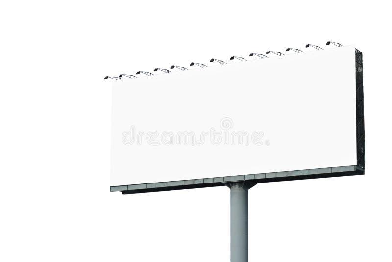 Cartelera en blanco para el anuncio aislado en blanco imagen de archivo