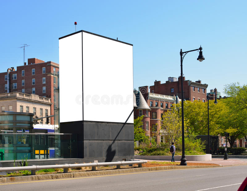 Cartelera en la ciudad imagen de archivo libre de regalías