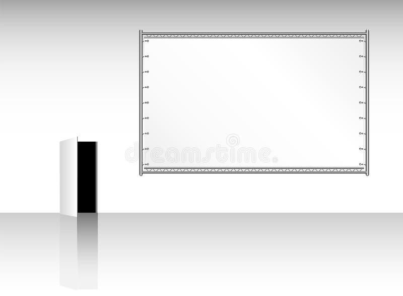 Cartelera pública en blanco stock de ilustración