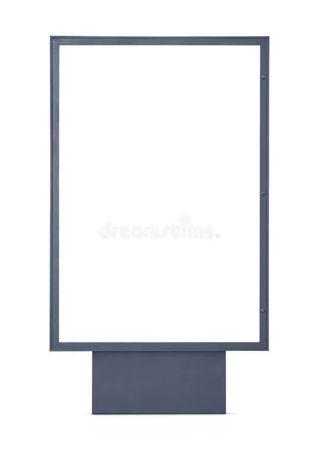 Cartelera publicitaria en blanco fotografía de archivo libre de regalías