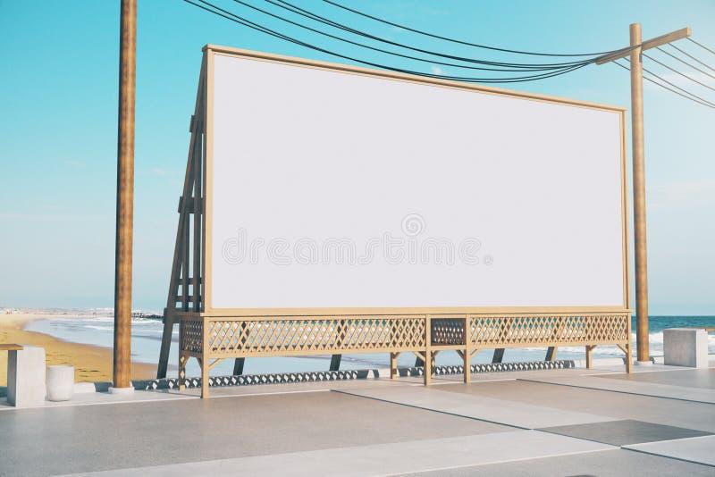 Cartelera vacía de la playa stock de ilustración
