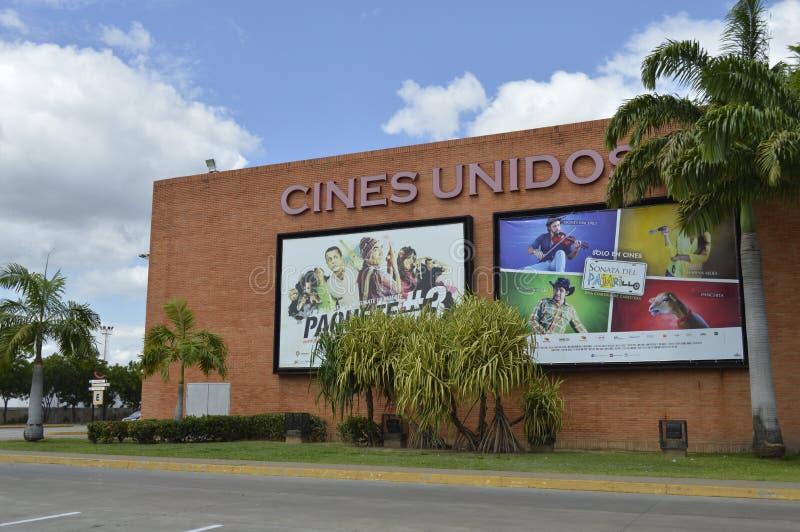 Cartelera venezolana del cine foto de archivo libre de regalías