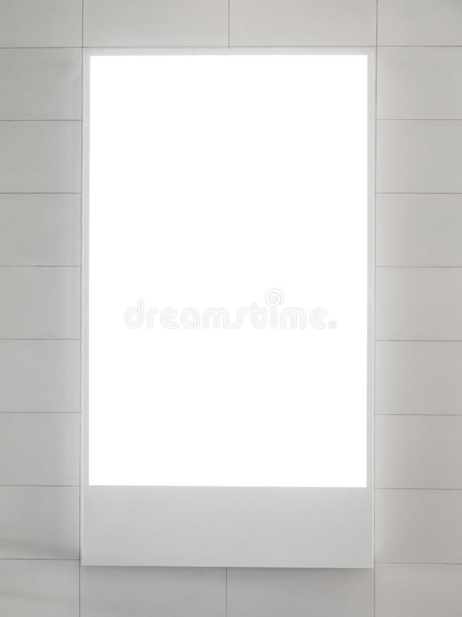 Cartelera vertical en blanco fotografía de archivo