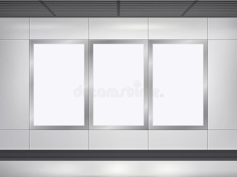 Cartelera y lightbox del espacio en blanco del vector 3d libre illustration
