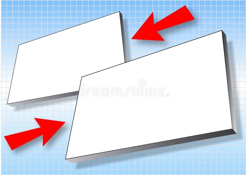 Carteleras con las flechas stock de ilustración