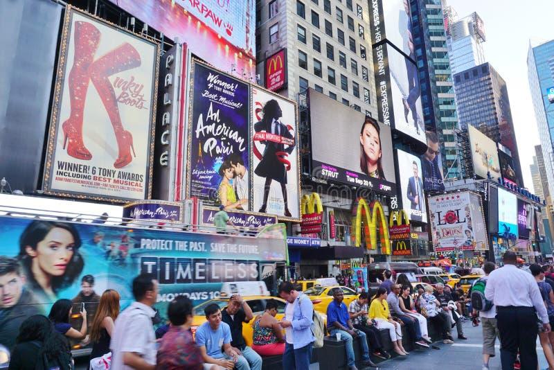 Carteleras en Times Square en New York City imagen de archivo libre de regalías