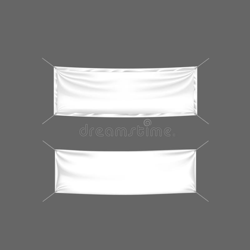 Carteleras realistas, banderas y publicidad al aire libre Muestras al por menor, soporte de la maqueta libre illustration
