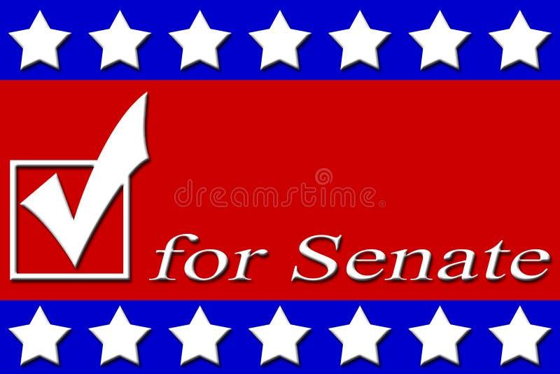 Carteles de la campaña stock de ilustración