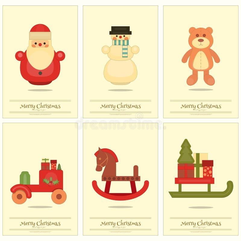 Carteles de la Feliz Navidad stock de ilustración