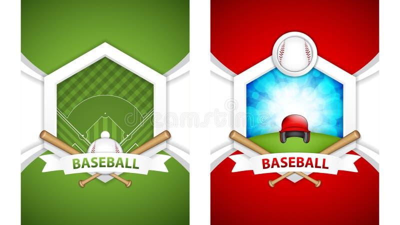 Carteles del béisbol ilustración del vector