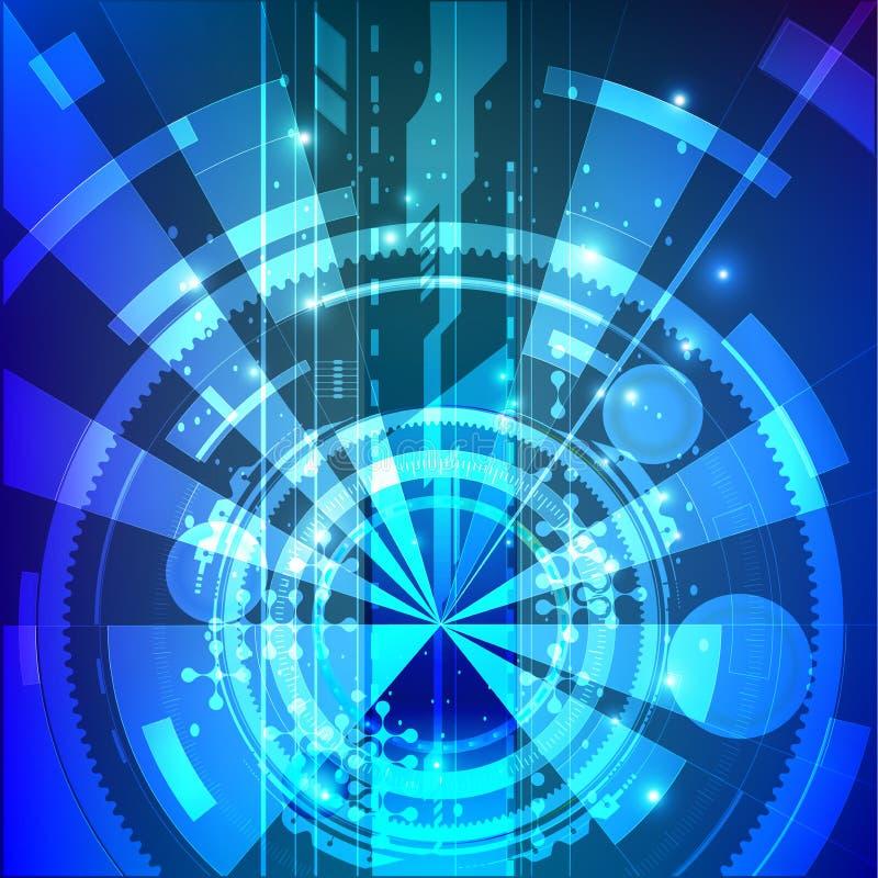 Carteles futuristas del diseño Vector Eps10 Fondo geométrico Composición dinámica de las formas stock de ilustración