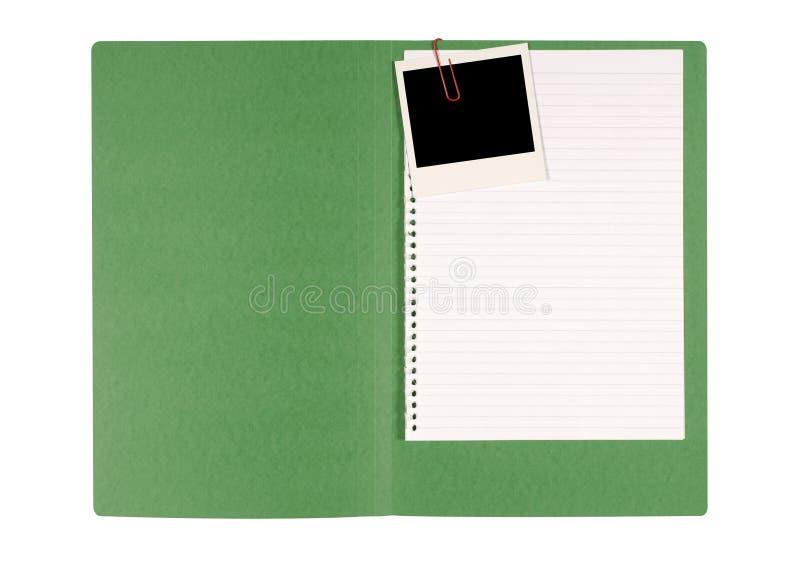 Cartella di archivio dell'ufficio con carta per appunti disordinata immagine stock libera da diritti
