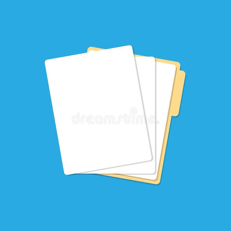 Cartella di carta delle liste illustrazione vettoriale