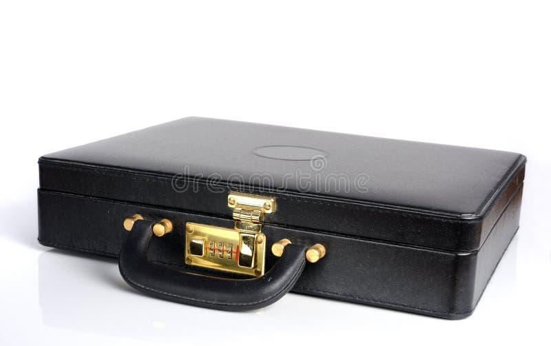 Cartella di cuoio con la serratura a combinazione fotografia stock libera da diritti