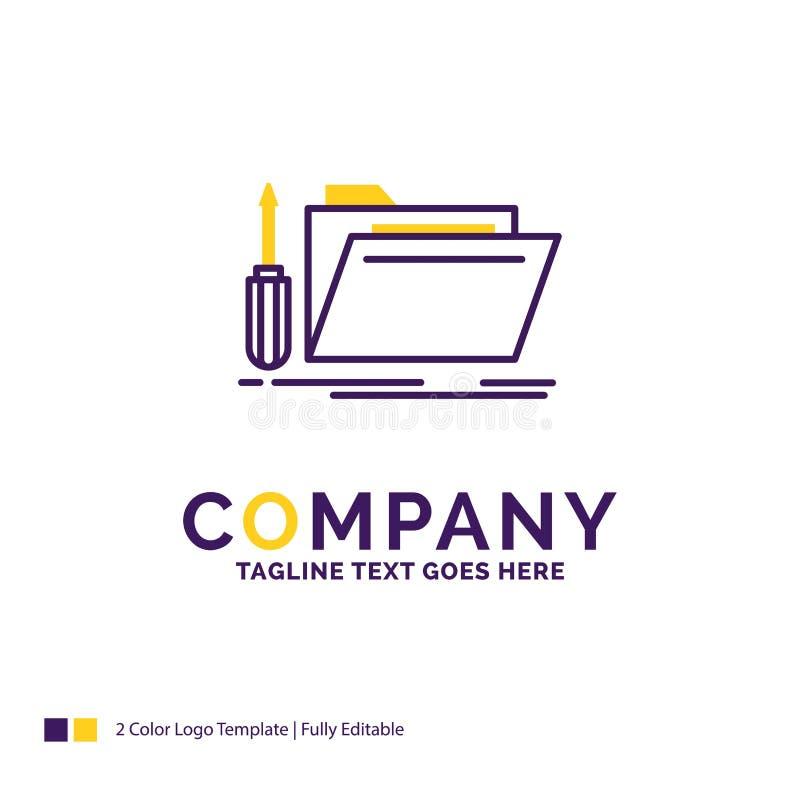 Cartella di Logo Design For di nome di società, strumento, riparazione, risorsa, ser illustrazione vettoriale