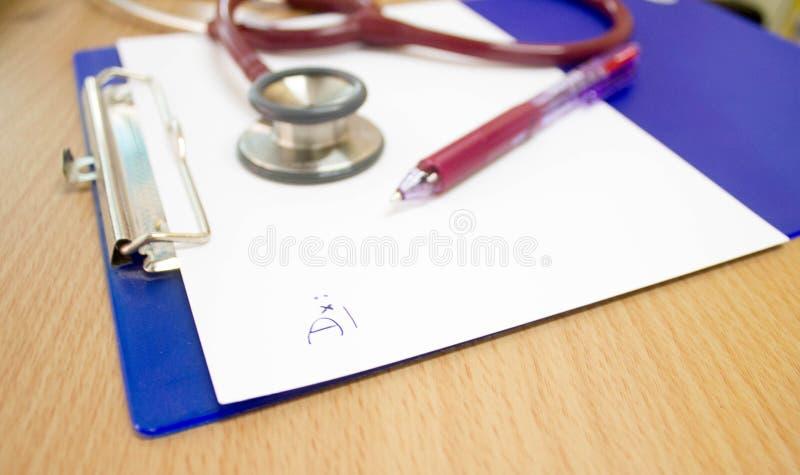 Cartella sanitaria fotografia stock libera da diritti