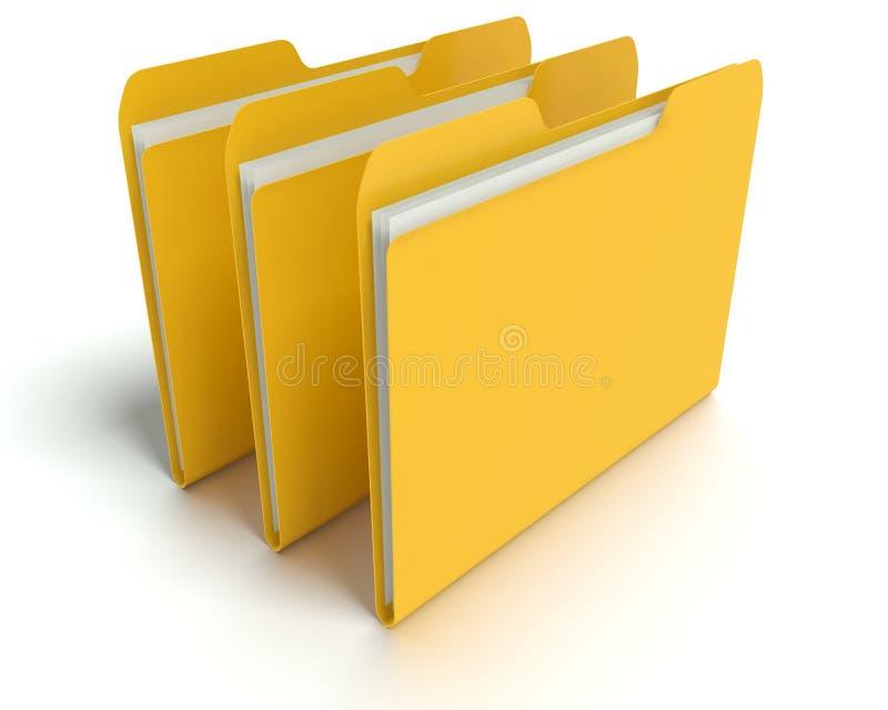 Cartelle/concetto degli archivi. illustrazione di stock